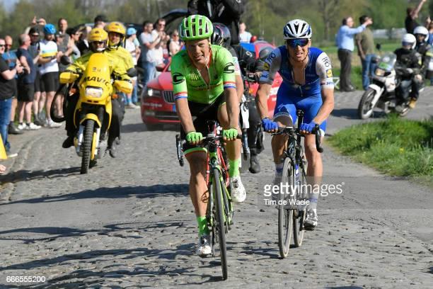 115th Paris Roubaix 2017 Sebastian LANGEVELD / Greg VAN AVERMAET / Zdenek STYBAR / Compiegne Paris Roubaix / PR / pool bp