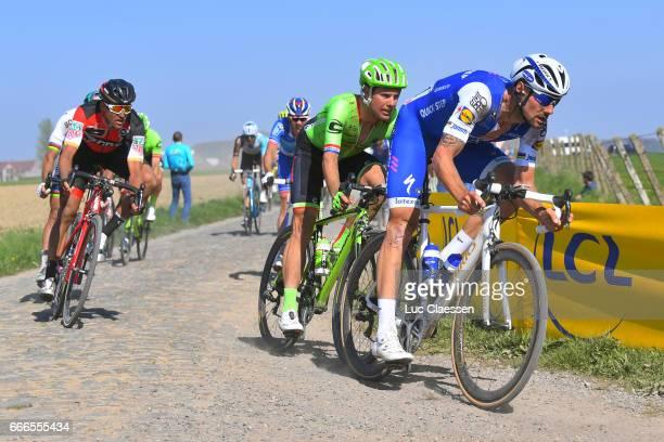 115th Paris Roubaix 2017 Tom BOONEN / Sebastian LANGEVELD / Greg VAN AVERMAET / Compiegne Paris Roubaix / PR /