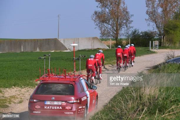 115th Paris Roubaix 2017 / Training Day 2 Mads WURTZ SCHMIDT / Tony MARTIN / Nils POLITT / Reto HOLLENSTEIN / Jenthe BIERMANS / Michael MORKOV /...