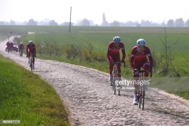 115th Paris Roubaix 2017 / Training Day 2 Reto HOLLENSTEIN / Michael MORKOV / Team Katusha Alpecin / Training / PR /