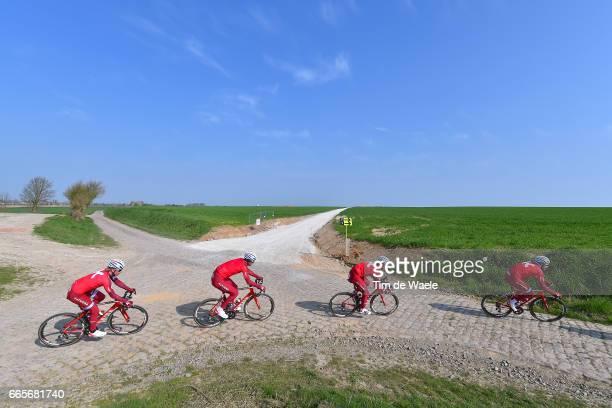 115th Paris Roubaix 2017 / Training Day 2 Reto HOLLENSTEIN / Tony MARTIN / Mads Marco HALLER / Team Katusha Alpecin / Training / PR /