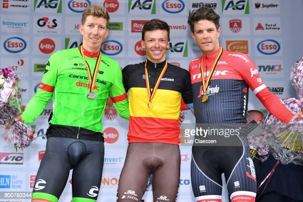 118th Belgian Road Championship 2017 / Elite Men Podium / Oliver NAESEN Celebration / Sep VANMARCKE / Jasper STUYVEN / Antwerp Antwerp / BRC/