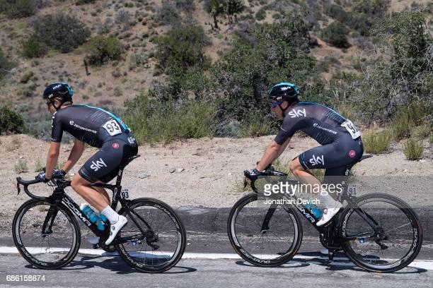 12th Amgen Tour of California Men 2017 / Stage 7 Jonathan DIBBEN / Elia VIVIANI / Mountain High Pasadena / ATOC / Amgen /