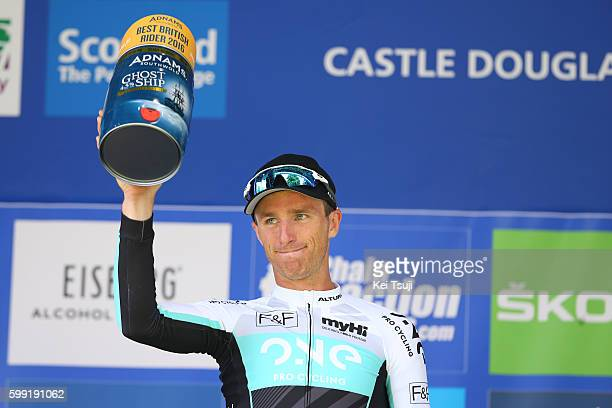 13rd Tour of Britain 2016 / Stage 1 Podium Peter WILLIAMS Best British Rider / Celebration / Glasgow Castle Douglas / Tour of Britain /Tim De...
