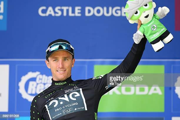 13rd Tour of Britain 2016 / Stage 1 Podium Peter WILLIAMS Black Mountain Jersey / Celebration / Glasgow Castle Douglas / Tour of Britain /Tim De...