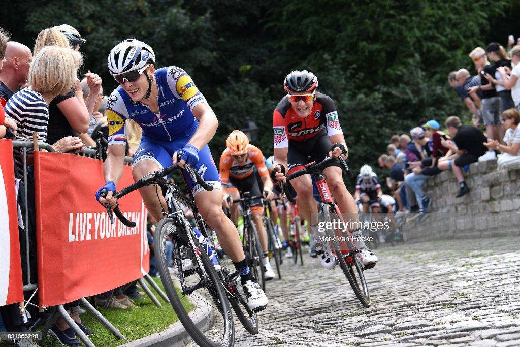 13th BinckBank Tour 2017 / Stage 7 Peter VAKOC (CZE)/ Stefan KUNG (SUI)/ Cobbles / Fans / Public / Essen - Geraardsbergen 55m (191,3km)/ BBT /
