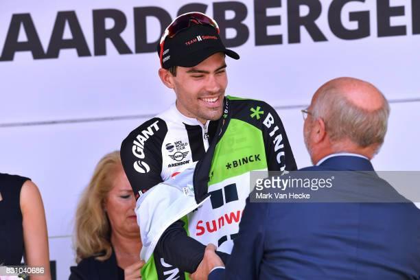13th BinckBank Tour 2017 / Stage 7 Podium / Tom DUMOULIN Green Leader Jersey / Celebration / Trophy / Essen Geraardsbergen 55m / BBT /
