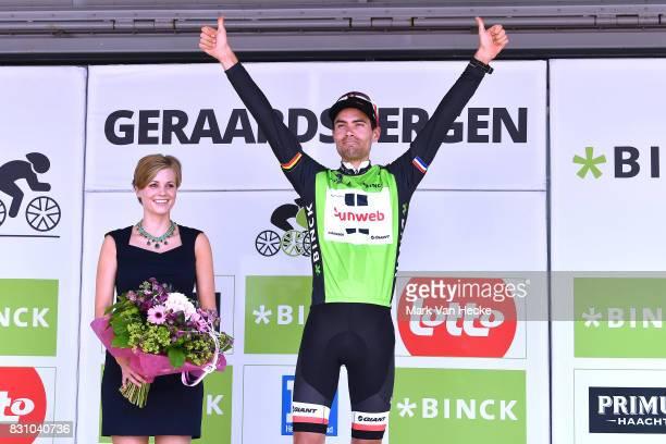 13th BinckBank Tour 2017 / Stage 7 Podium / Tom DUMOULIN Green Leader Jersey / Celebration / Essen Geraardsbergen 55m / BBT /