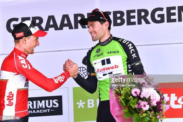 13th BinckBank Tour 2017 / Stage 7 Podium / Tom DUMOULIN Green Leader Jersey / Celebration / Tim WELLENS / Essen Geraardsbergen 55m / BBT /