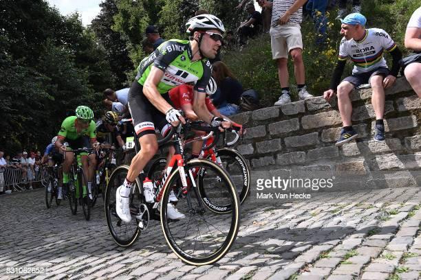 13th BinckBank Tour 2017 / Stage 7 Tom DUMOULIN Green Leader Jersey / Cobbles / Fans / Public / Essen Geraardsbergen 55m / BBT /