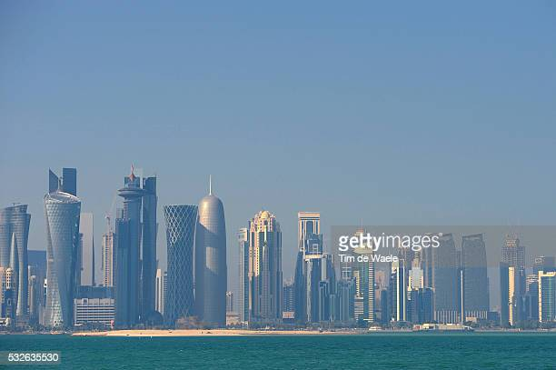 13th Tour of Qatar 2014 / Stage 6 Illustration Illustratie / DOHA City Ville Stad / Landscape Paysage Landschap / Sealine Beach Resort Doha Corniche...