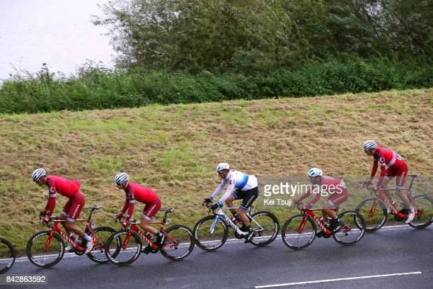 14th Tour of Britain 2017 / Stage 3 Reto HOLLENSTEIN / Mads WURTZ SCHMIDT / Alexander KRISTOFF European Champion Jersey / Tiago MACHADO / Nils POLITT...
