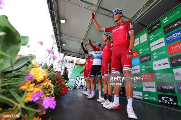 14th Tour of Britain 2017 / Stage 4 Start / Podium / Nils POLITT / Tony MARTIN / Alexander KRISTOFF / Alexander KRISTOFF European Champion Jersey /...