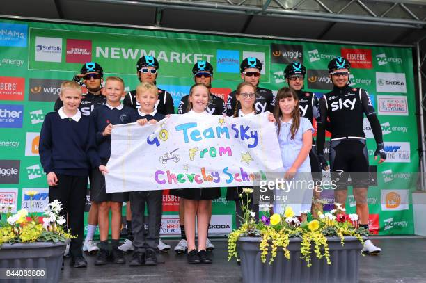 14th Tour of Britain 2017 / Stage 6 Start / Podium / Geraint THOMAS / Owain DOULL / Vasil KIRYIENKA / Michal KWIATKOWSKI / Elia VIVIANI / Tao...