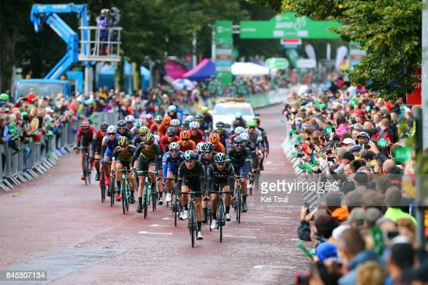14th Tour of Britain 2017 / Stage 8 Geraint THOMAS / Owain DOULL / Elia VIVIANI / Ariel Maximiliano RICHEZE / Peloton / Public / Fans / Worcester...