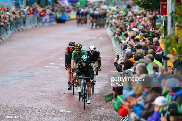 14th Tour of Britain 2017 / Stage 8 Michal KWIATKOWSKI / Lars BOOM Green Leader Jersey / Stefan KUNG / Public / Fans / Worcester Cardiff / OVO...