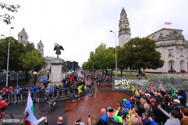 14th Tour of Britain 2017 / Stage 8 Peloton / Geraint THOMAS / Michal KWIATKOWSKI / Elia VIVIANI / Owain DOULL / Cardiff City Hall / Worcester...