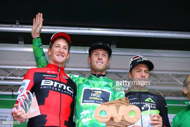 14th Tour of Britain 2017 / Stage 8 Podium / Stefan KUNG / Lars BOOM Green Leader Jersey / Edvald BOASSON HAGEN / Celebration / Trophy / Worcester...