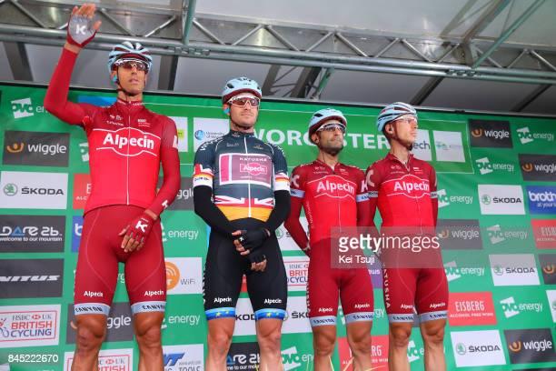 14th Tour of Britain 2017 / Stage 8 Start / Podium / Nils POLITT / Alexander KRISTOFF Grey Point Jersey / Tiago MACHADO / Tony MARTIN / Worcester...