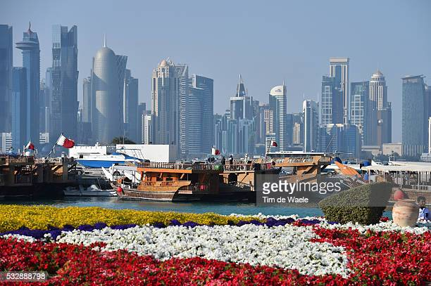 15th Tour of Qatar 2016 / Stage 5 Illustration Illustratie / Doha City Ville Stad / Skyline / Flowers Fleur Bloemen / Landscape Paysage Landschap /...