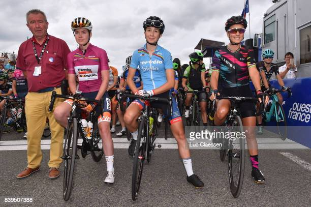 16th GP de PlouayBretagne 2017 / Women Anna VAN DER BREGGEN UCI leaders Jersey / CecilieUttrup LUDWIg UCI U23 leaders jersey/ Pauline FERRAND PREVOT...