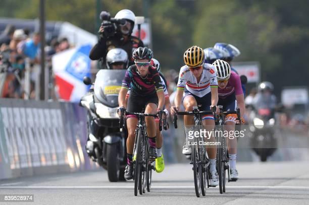 16th GP de PlouayBretagne 2017 / Women Pauline FERRAND PREVOT / Lizzie Elizabeth ARMITSTEADDEIGNAN / Anna VAN DER BREGGEN UCI leaders Jersey /...