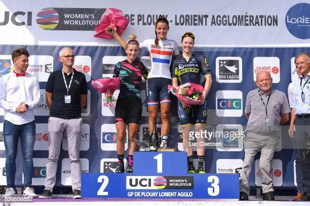 16th GP de PlouayBretagne 2017 / Women Podium / Pauline FERRAND PREVOT / Lizzie Elizabeth ARMITSTEADDEIGNAN / Sarah ROY / Celebration / Ploulay...