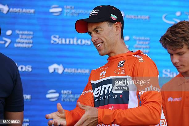 19th Santos Tour Down Under 2017/ Stage 3 Men Podium / Richie PORTE Orange Leader Jersey / Glenelg Victor Harbor / Hansgrohe Stage / Men / TDU / ©Tim...