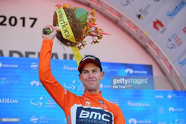 19th Santos Tour Down Under 2017/ Stage 3 Men Podium / Richie PORTE Orange Leader Jersey / Celebration / Glenelg Victor Harbor / Hansgrohe Stage /...