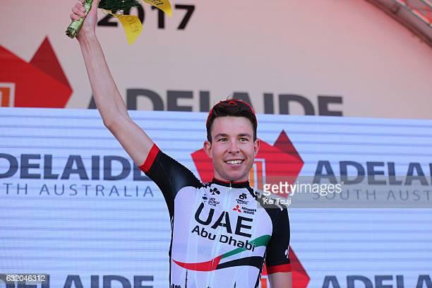 19th Santos Tour Down Under 2017/ Stage 3 Men Podium / Vegard LAENGEN / Most Combative Rider / Celebration / Glenelg Victor Harbor / Hansgrohe Stage...