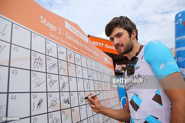 19th Santos Tour Down Under 2017/ Stage 3 Men Start / Ben GASTAUER / Signature / Glenelg Victor Harbor / Hansgrohe Stage / Men / TDU / ©Tim De...
