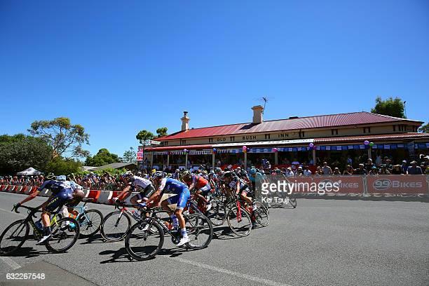 19th Santos Tour Down Under 2017/ Stage 5 Men Peloton / McLaren Vale Willunga Hill 382m / BikeExchange Stage / Men / TDU / ©Tim De WaeleKT/Tim De...