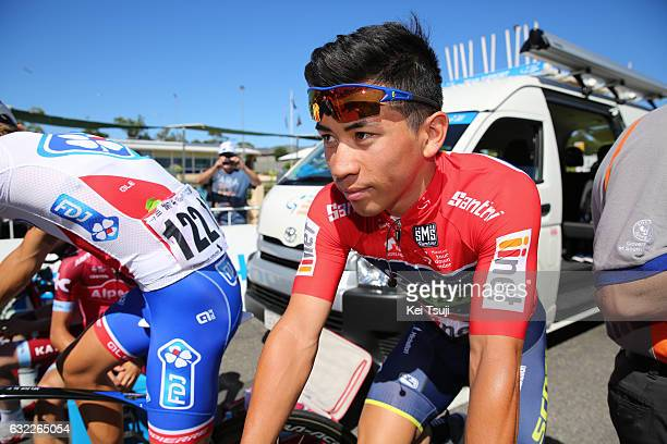 19th Santos Tour Down Under 2017/ Stage 5 Men Start / Caleb EWAN Red Sprint Jersey / McLaren Vale Willunga Hill 382m / BikeExchange Stage / Men / TDU...