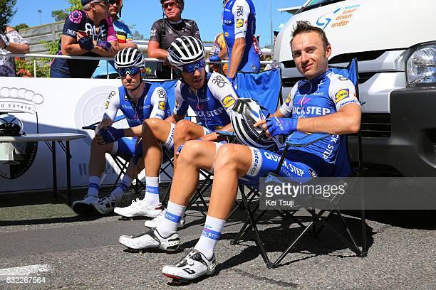 19th Santos Tour Down Under 2017/ Stage 5 Men Start / Dries DEVENYNS / Eros CAPECCHI / Gianluca BRAMBILLA / McLaren Vale Willunga Hill 382m /...