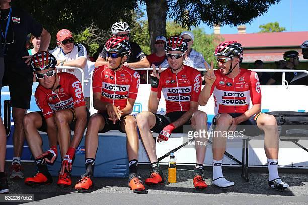 19th Santos Tour Down Under 2017/ Stage 5 Men Start / Lars BAK / James SHAW / Sander ARMEE / Adam HANSEN / McLaren Vale Willunga Hill 382m /...