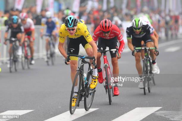 1st TDF Shanghai Criterium 2017 Christopher FROOME Yellow Leader Jersey / Alberto CONTADOR / Shanghai Shanghai / TDF / Shanghai Criterium /