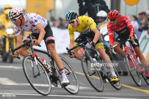 1st TDF Shanghai Criterium 2017 Warren BARGUIL Polka Dot Mountain Jersey / Christopher FROOME Yellow Leader Jersey / Alberto CONTADOR / Shanghai...