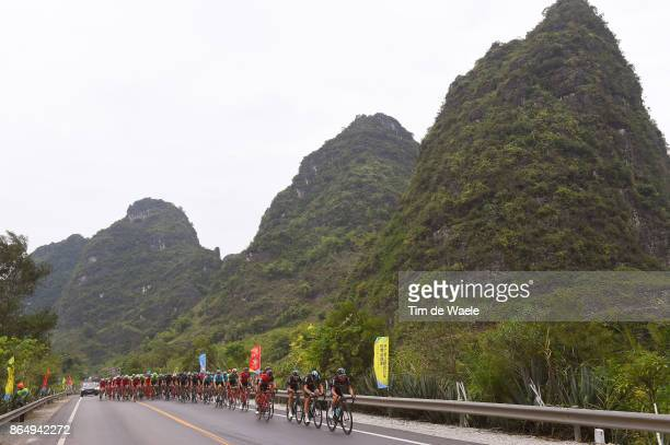 1st Tour of Guangxi 2017 / Stage 4 Jonathan DIBBEN / Owain DOULL / Danny VAN POPPEL / Team Sky / BMC Racing Team / Peloton / Mountains / Landscape /...