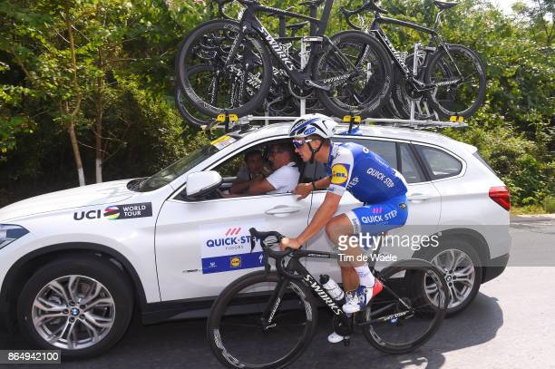 1st Tour of Guangxi 2017 / Stage 4 Julian ALAPHILIPPE / Rik VAN SLYCKE Sportsdirector Team QuickStep Floors / Nanning Mashan Nongla Scenic Area 472m...
