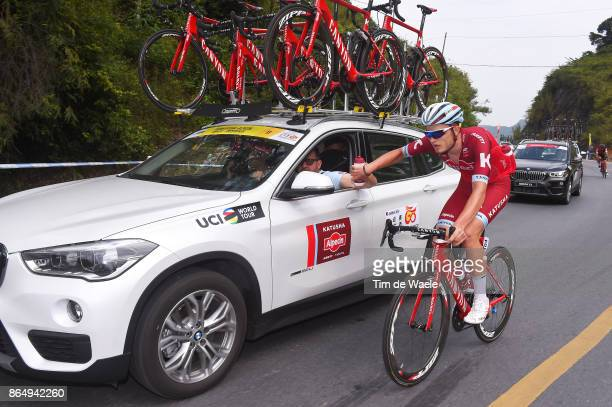 1st Tour of Guangxi 2017 / Stage 4 Marco MATHIS / Feeding / Bottles / Nanning Mashan Nongla Scenic Area 472m / Gree Tour of Guangxi / TOG /