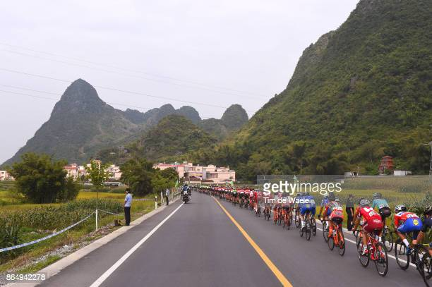 1st Tour of Guangxi 2017 / Stage 4 Peloton / Mountains / Landscape / Nanning Mashan Nongla Scenic Area 472m / Gree Tour of Guangxi / TOG /