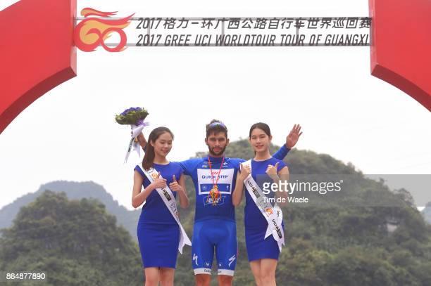 1st Tour of Guangxi 2017 / Stage 4 Podium / Fernando GAVIRIA Blue Sprint Jersey / Celebration / Nanning Mashan Nongla Scenic Area 472m / Gree Tour of...