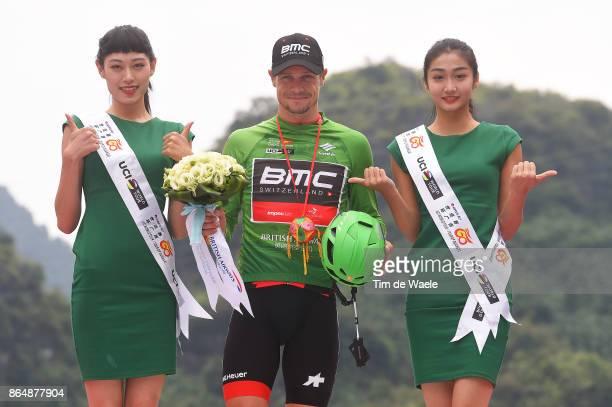 1st Tour of Guangxi 2017 / Stage 4 Podium / Silvan DILLIER Green Mountain Jersey / Celebration / Nanning Mashan Nongla Scenic Area 472m / Gree Tour...