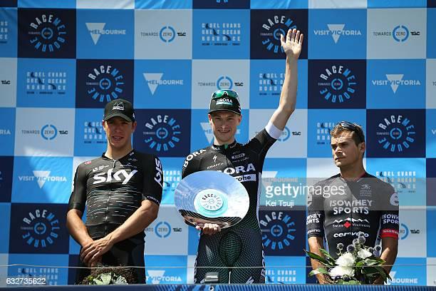 1st Toward Zero Race Melbourne / Cadel Evans Albert Park GP/ Men Podium / Sam BENNET / Celebration / Danny VAN POPPEL / Scott SUNDERLAND / Albert...