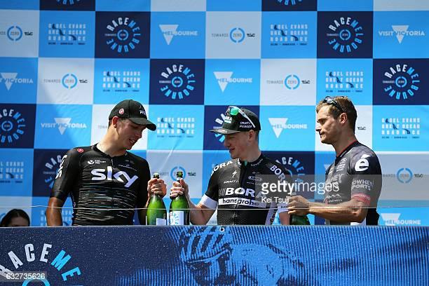 1st Toward Zero Race Melbourne / Cadel Evans Albert Park GP/ Men Podium / Sam BENNET / Danny VAN POPPEL / Scott SUNDERLAND / Albert Park F1 GP...