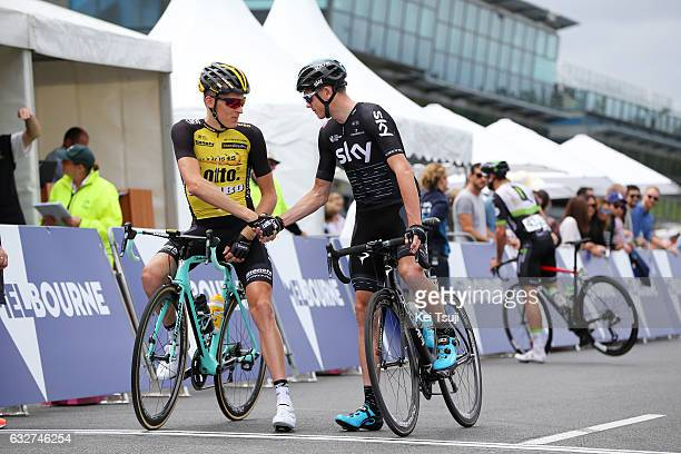 1st Toward Zero Race Melbourne / Cadel Evans Albert Park GP/ Men Start / Robert GESINK / Christopher FROOME / Albert Park F1 GP Circuit Albert Park...