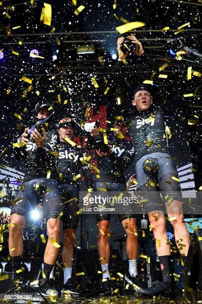 1st Velon Hammer Series 2017 / Day 3 Podium / Tao GEOGHEGAN HART / Elia VIVIANI / Danny VAN POPPEL / Jonathan DIBBEN / Owain DOULL / Celebration /...