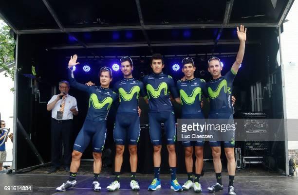 1st VelonBest Team 2017 / Day 1 Podium / Team Movistar / Carlos BETTANCUR/ Carlos BARBERO/ Hector CARRETERO/ Nelson OLIVEIRA/ Alex DOWSETT/ Nuno...