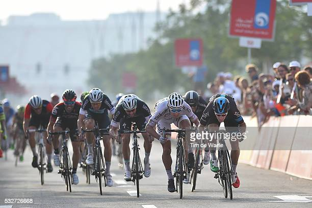 1th Abu Dhabi Tour 2015 / Stage 2 Arrival Sprint / / VIVIANI Elia / SAGAN Peter / SABATINI Fabio / Yas Marina Circuit Yas Mall / The Capital Stage /...