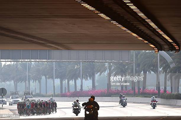 1th Abu Dhabi Tour 2015 / Stage 2 Illustration Illustratie / Peleton Peloton / Bridge Pont Brug / Landscape Paysage Landschap / Yas Marina Circuit...